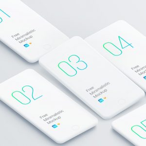 Free set of smartphone clay mockups