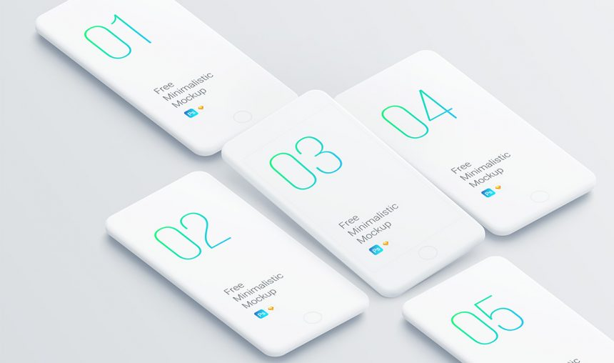 Free set of smartphone clay mockups