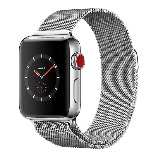 Hakse - Apple Watch Series3-38mm-Stainless-Steel-(Milanese-Loop)-Silver
