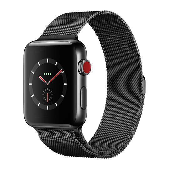 Hakse - Apple Watch Series3-42mm-Stainless-Steel-(Milanese-Loop)-Black