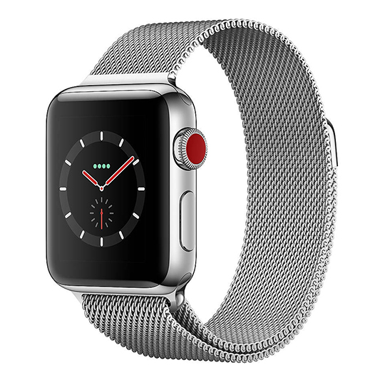 Hakse - Apple Watch Series3-42mm-Stainless-Steel-(Milanese-Loop)-Silver